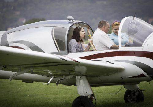 családi repülőnap, sétarepülés négyszemélyes kisgépeken