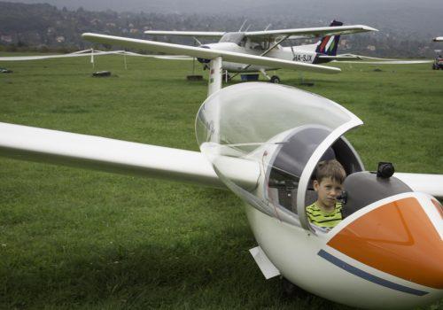 családi nap, vitorlázórepülő