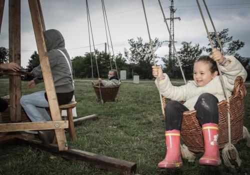 gyermekprogram, körhinta, Skanzen