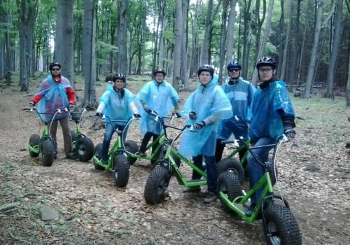 outdoor csapatépítés, monsterrollerrel a Mátra lejtőin
