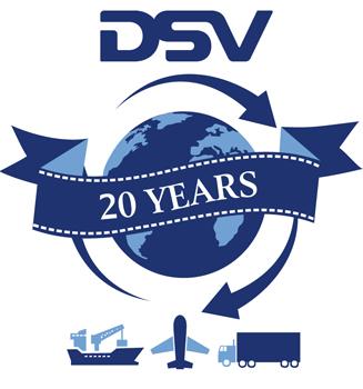 DSV 20 years logo 2